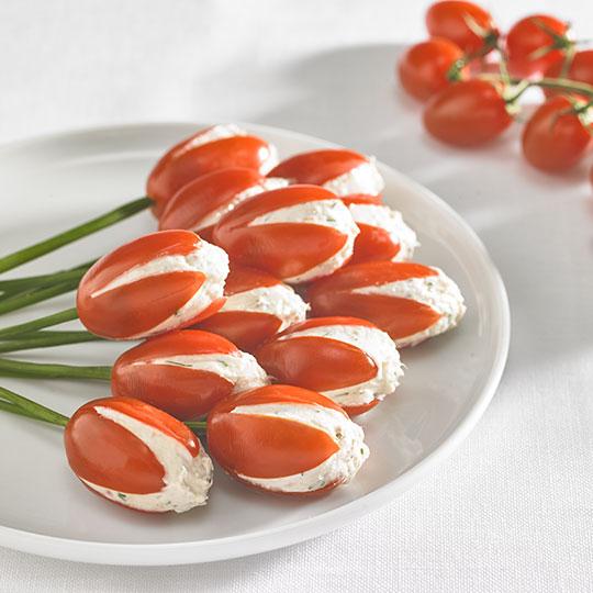 Tulipes de tomates Babycita au thon et aneth